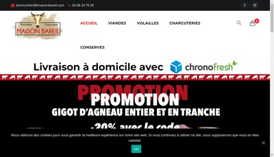 Site internet de Boucherie Charcuterie Bareil