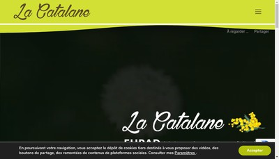Site internet de SARL la Catalane