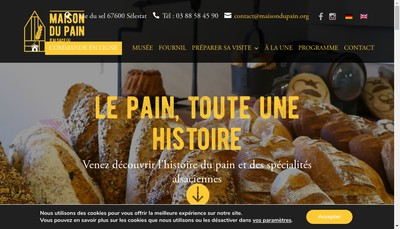 Site internet de Maison du Pain d'Alsace