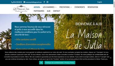 Site internet de La Maison de Julia