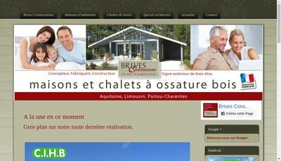 Site internet de Brives Constructions