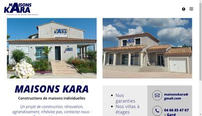 Site internet de Maisons Kara