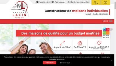 Site internet de Lacin Construction