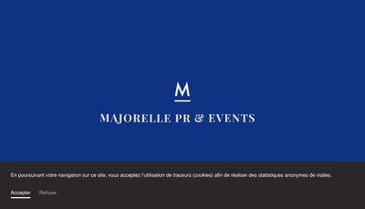 Site internet de Majorelle, Pr & Events