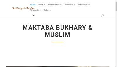 Site internet de Maktaba Bukhari And Muslim