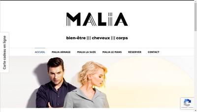 Site internet de Malia Arnage