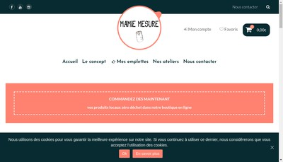 Site internet de Mamie Mesure