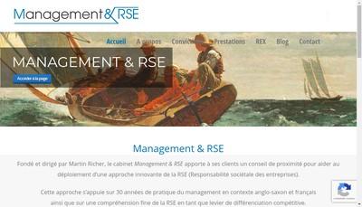Site internet de Management & Rse