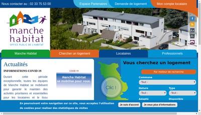 Site internet de Manche Habitat