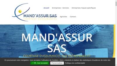 Site internet de Mand'Assur SAS