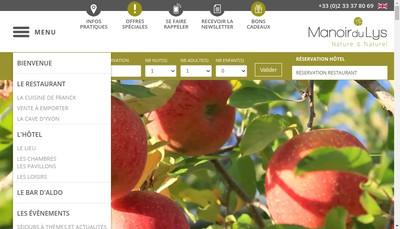 Site internet de Le Manoir du Lys
