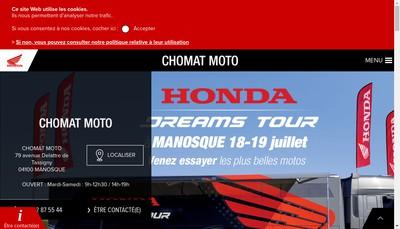 Site internet de Chomat Moto