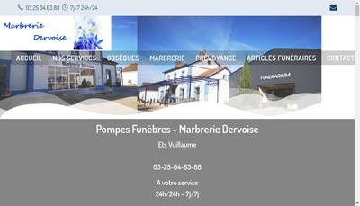 Site internet de Marbrerie Dervoise