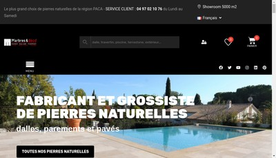 Site internet de Marbres et Deco du Monde -MDM