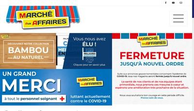 Site internet de Le Marche aux Affaires