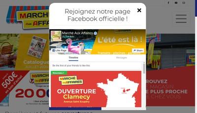 Site internet de Marche aux Affaires