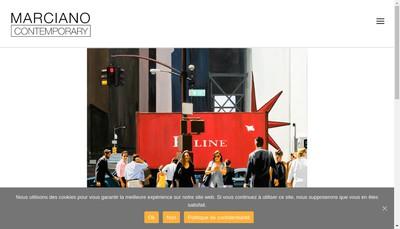 Site internet de Marciano Contemporary