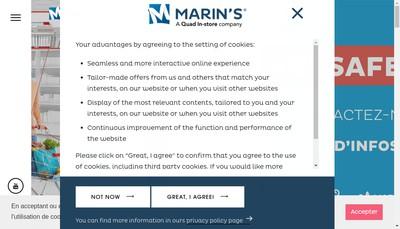 Site internet de Marin' S International
