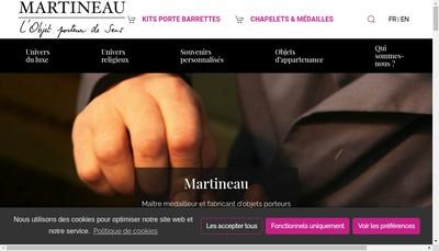 Site internet de SARL Martineau