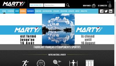 Site internet de Marty Sports