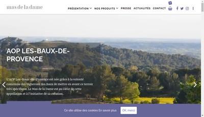 Site internet de Societe Fermiere Mas de la Dame R Faye
