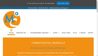 Site internet de Massilia Coaching