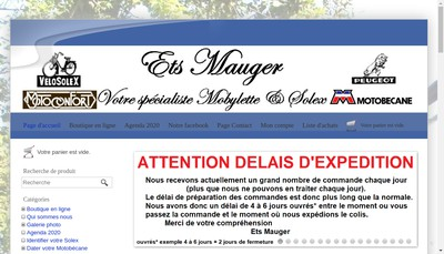 Site internet de Etablissements Mauger