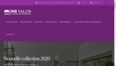 Site internet de Mb Salon