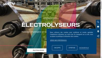 Site internet de Mc Phy Energy