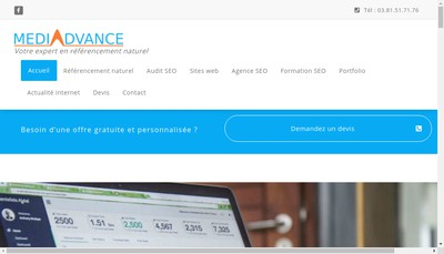 Site internet de Mediadvance