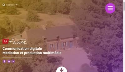 Site internet de Agence Mediafaune