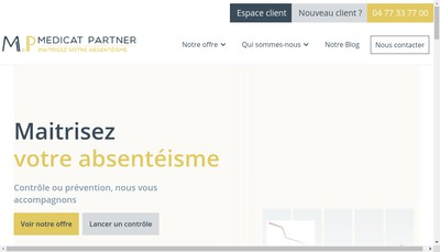 Site internet de Agence K - Medicat Partner - Ciage - Syneance