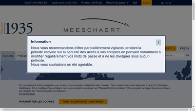 Site internet de Societe d'Etudes et de Gestion Financiere Meeschaert