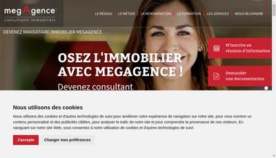 Site internet de Megagence