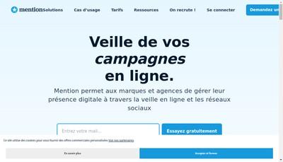 Site internet de Mention Solutions