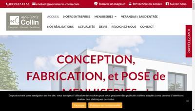 Site internet de Menuiserie Collin