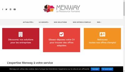 Site internet de Menway Conseil