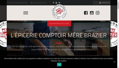 Site internet de Epicerie Comptoir - Mere Brazier