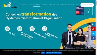 Site internet de Meritis Finance