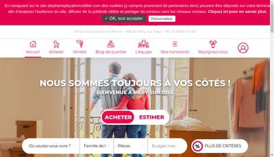 Site internet de Stephane Plaza Immobilier