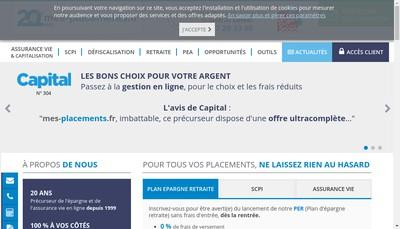 Site internet de Finance Selection
