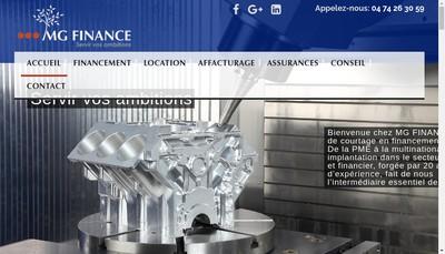 Site internet de Mg Finance