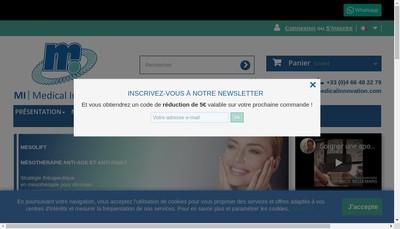 Site internet de Mi Medical Innovation