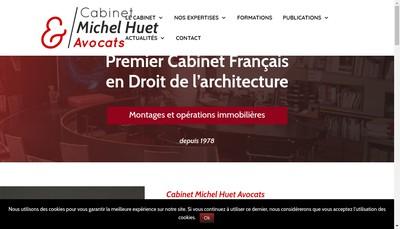 Site internet de Cabinet Michel Huet Avocats