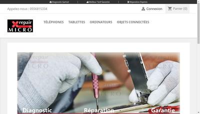 Site internet de Micro-Repair