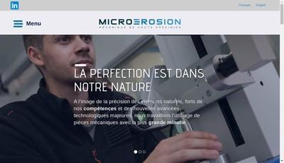 Site internet de SARL Micro Erosion