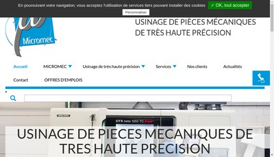 Site internet de Micromec