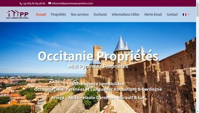 Site internet de Midi Pyrenees Proprietes