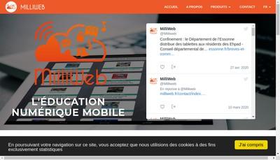 Site internet de Milliweb