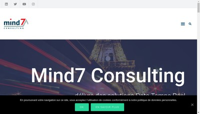Site internet de Mind7 Consulting